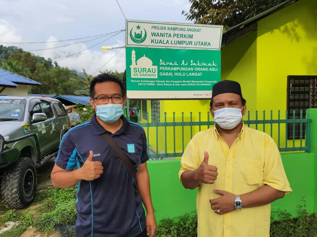 Misi 'Syawal Cov-Eid' di Kg Orang Asli Sg Gabai, Hulu Langat, Selangor